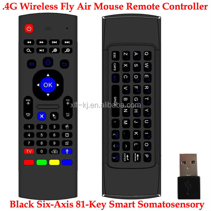 Wireless Air Mouse + Keyboard + 3D Somatic Handle + Android Remote Multi-function Handle