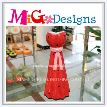 Wholesale Factory Manufacture OEM Craft Decorative Red Ceramic Cheap Flower Vase