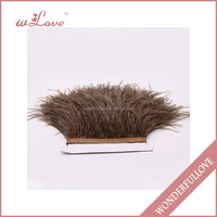 Ostrich feather trim for party dress feather fringe trim