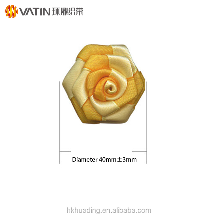 Wholesale Floral Supplies Custom 7 / 8 Inch Polyester Organza Double Face Satin Ribbon Rose