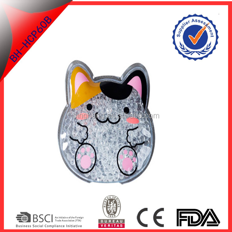 cute cat animal resuable hot cold pack for children hot cold pack