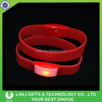 Customized Good Quality Flexible Wristband With LED For Sport, Colorful Light Up Flexible Wristband