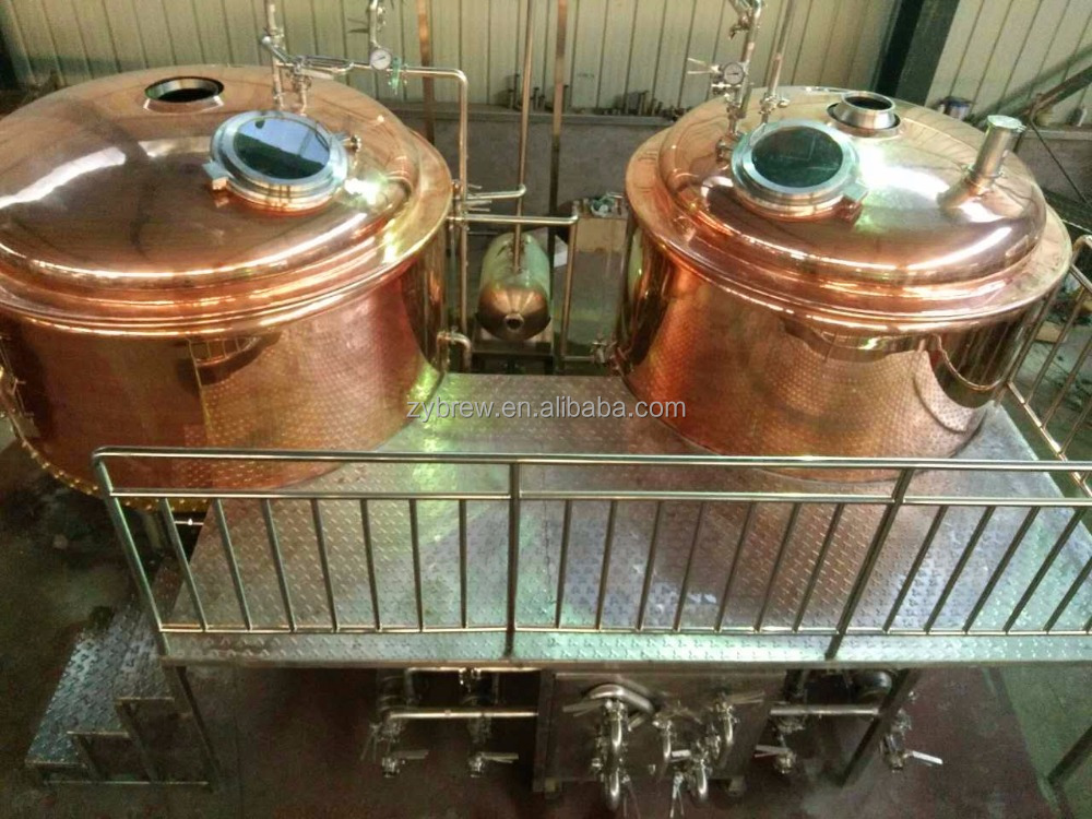 Copper, stainless steel beer boiler/ beer brewing kettle, brewhouse