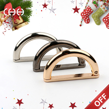 Wholesales metal adjustable D shaped belt buckles with open mouth