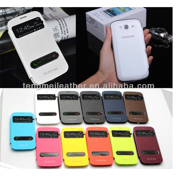 Flip View Smart Leather Case Battery Cover For Samsung Galaxy S4 i9500,For Samsung Galaxy S4 Leather Flip Case