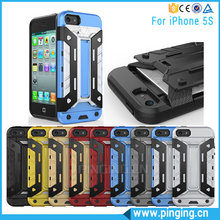 New Arrivals 2016 Multi-Function Lazy Card Slot Holder Case For Apple i Phone 5S, Hybrid Armor Case For iPone 5S