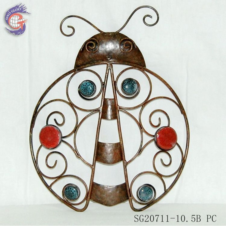 beautiful metal beetle wall hanging arts