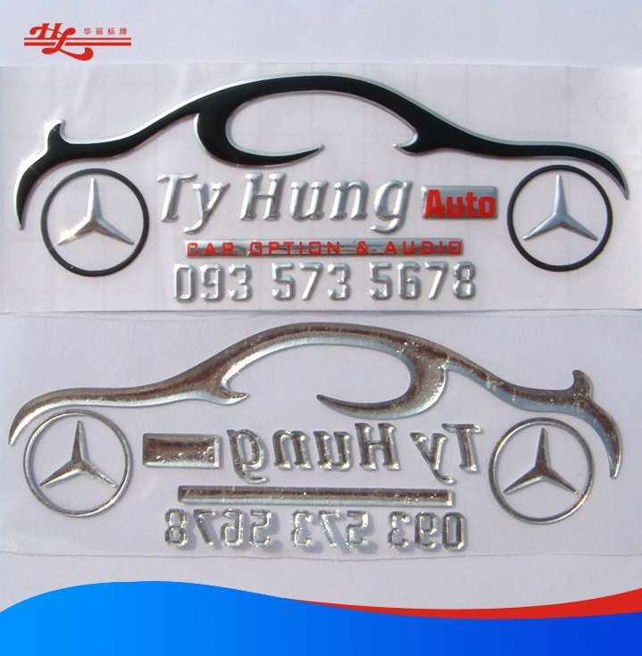 custom plastic printing stickers and 3d printing logo