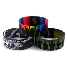 Promotion heat transfer printed fancy wrist band