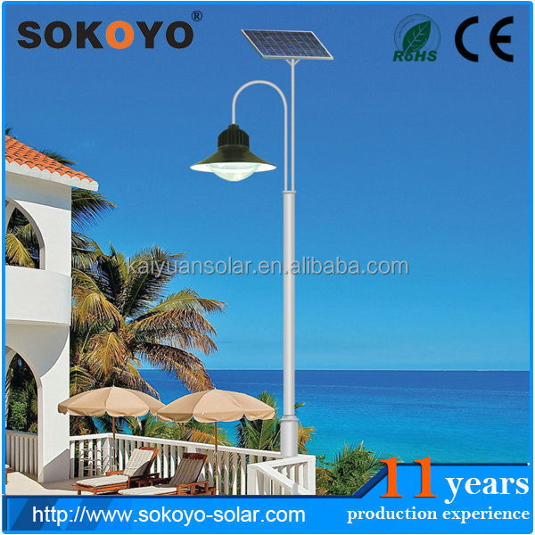 IP65 Good design high lumens 10W LED Solar garden light