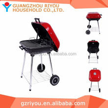 2015 High Quality Hamburger Shap Charcoal Kettle Ceramics Barbecue Grill & Smoker