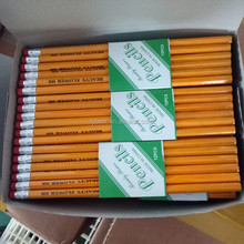 hexagonal HB standard bulk #2 pencils yellow colored pencil number 2 pencil