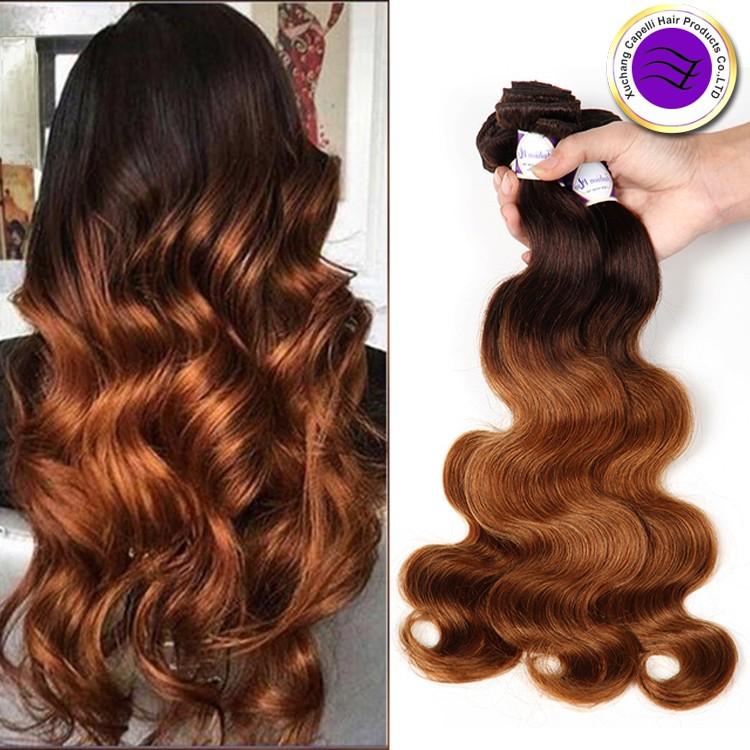 8a Blonde Weave 4 30 Body Wave Cheap Two Tone Ombre Brazilian Hair