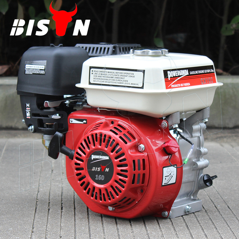 BISON(CHINA) BS160 OHV Air Cooled Four Stroke Gasoline Power Engine 6.5hp