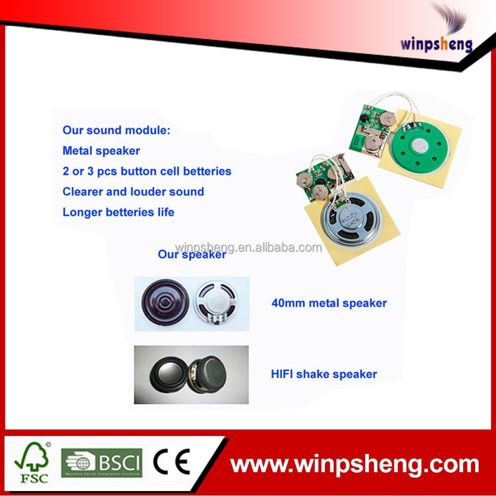 Motion Activated Greeting Card Sound Chip Motion Activated Greeting