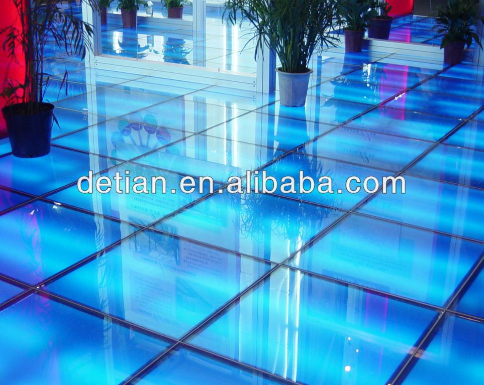 Raised floor for event / aluminium heavy duty floor for car <strong>show</strong>/ profesional expo glass lighting floor