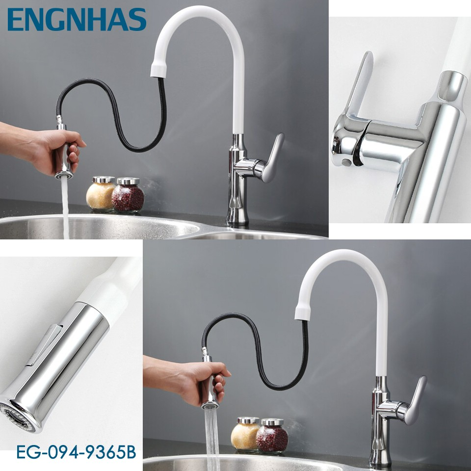 Plastic long neck faucet kitchen sink water tap
