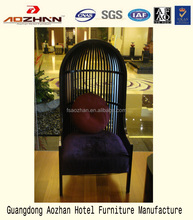 Hotel furniture new style black birdcage lounge living room chair
