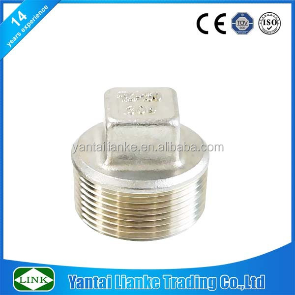 150lbs stainless steel NPT square type pipe thread plug