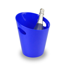 Transparent new design plastic logo alcohol ice bucket