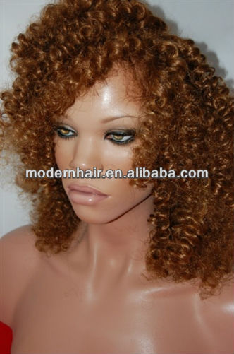 2012 Factory Hot Selling Cheap Fashion Design Various Colour Curly Synthetic Wigs
