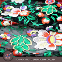 Chinese Style beautiful and sexy colourful flower design printed chiffon breathable mesh wonder woman fabric