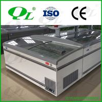 Commercial air curtain vertical refrigerator 0-7 degree used stainless steel refrigerator