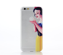 3d printing mobile phone case, Princess Eating Little Mermaid Holding Logo case for iphone 6 /6 plus