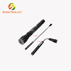 Ningbo Manufacturer Aluminum Material Flexible Gooseneck 3 led magnetic flashlight