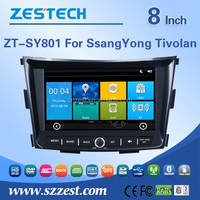 Double din car stereo auto steering wheel for SSANG YONG Tivolan car gps with cd dvd ATV SWC RDS