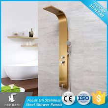 Top Selling Easy To Use Adjustable Gold Shower Spray Jets Massage