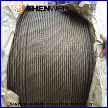 China Nantong Shenwei 6x12+7FC 7.0mm electrical galvanized steel wire rope
