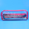 Colorful Plastics Pencil Case Makeup Bag With Multicolor Zipper