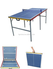 Protable min table tennis table / small size suitcase foldable kid's pingpong table for sale