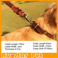 Wholesale Genuine Leather Dog Collars Leashes