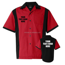 Men's Bowl Jersey Custom Logo Printing Wholesale Bowling Jersey Shirt Customized For Your Team