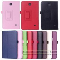 Etui Tablette Portefeuille PU Leather Tablet Folio Case Stand Cover with Stylus Touch Pen Holder for Samsung Galaxy Tab 4 7.0