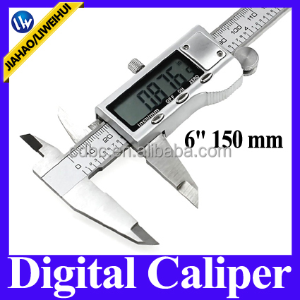 2016 New LCD Electronic Digital Gauge 6 inch Stainless Steel Electronic Digital Vernier Caliper 150mm Micrometer