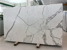 Natural polished white marble stone, Calacatta white stone marble, Italian white marble