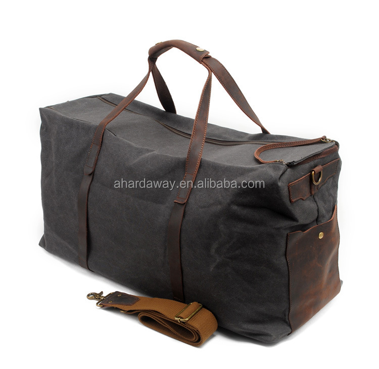 Wholesale Large Waxed Canvas Leather Travel Duffel bag