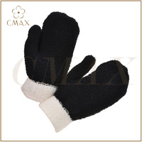 Competitive price black genuine leather fashion men hot sale goat/lamb/cow nappa glove