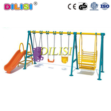 High quality outdoor playground metal kids swing sets with slide