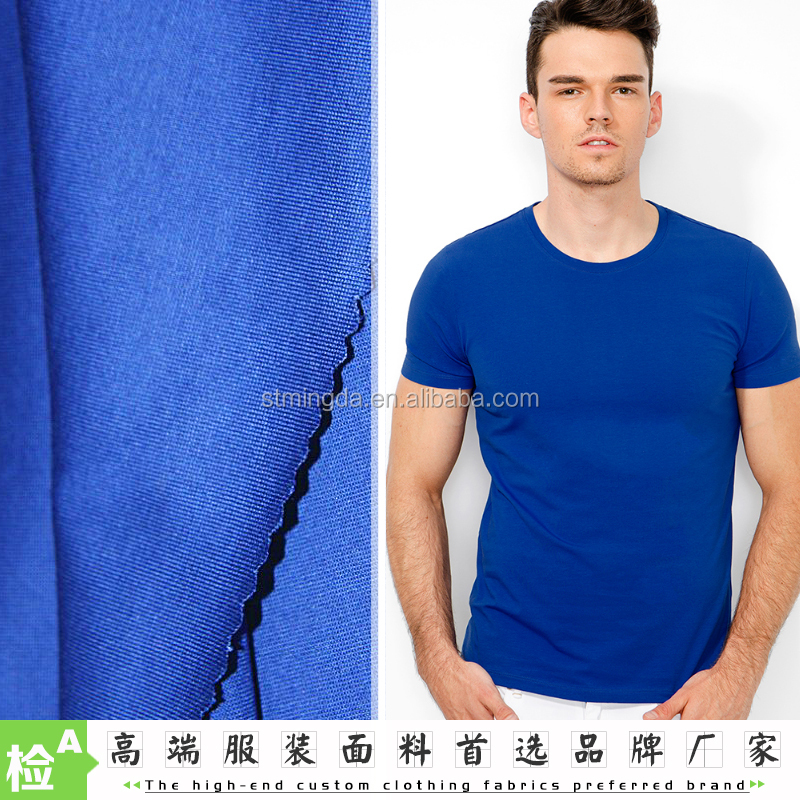 Free sample OEM 60S/2 mercerized cotton jersey 100 % single jersey knitted wholesale cotton fabric for t-shirt