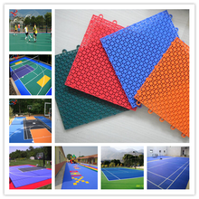 outdoor sport courts tennis/basketball/badminton/futsal PP plastic interlocking flooring tile