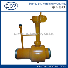 LOV Full Welded Extended Stem By Pass Trunnion Mounted Ball Valve