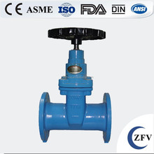Hot sale factory price rubber seal flanged cast iron non rising stem wedge gate valve