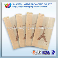 printed brown sandwich bag,paper sandwich bag,kraft paper sandwich bag