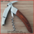(OP-17145) Build in Double Lever Pakka Wood Handle Bird Shaped Wine Key Corkscrew Bottle Opener