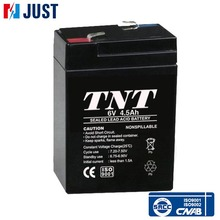 AGM sealed lead acid 6v 4.5ah 20hr solar rechargeable battery
