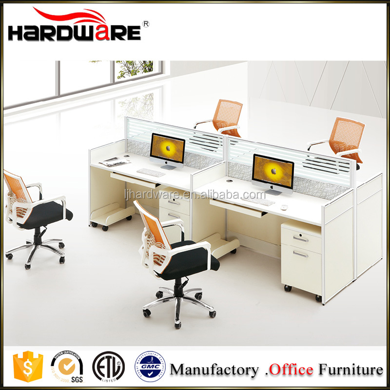 Popular choices wood office team table for 4 person
